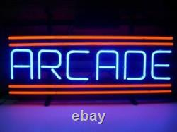 Red Arcade Game Room Video 14x10 Neon Sign Lamp Light Beer Bar With Dimmer