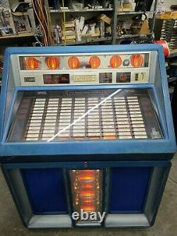 Rowe AMI R-91 Jukebox Vinyl Coin Operated Blue 200 Selections Arcade Game Room