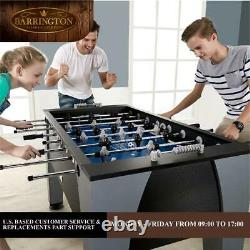 Soccer Foosball Table & 2 Balls Set Arcade Football Game Room Furniture 54 in