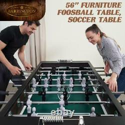 Soccer Foosball Table Balls Set Game Room Wood Arcade Football Furniture 56 in