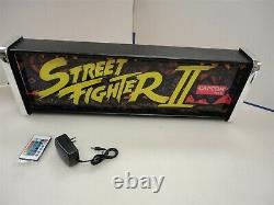 Street Fighter 2 Marquee Game/Rec Room LED Display light box