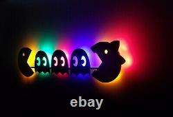 Super Sized Acrade Pac Man and Ms Pac Man LED sign Game room, Retro, Man