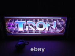 Tron Marquee Game/Rec Room LED Display light box