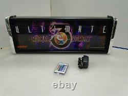 Ultimate Mortal Kombat 3 Marquee Game/Rec Room LED Display light box