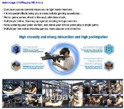 VR Escape Room Gun Shooting Simulator HTC Virtual Reality 9D Arcade SEE VIDEO