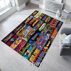 Video Game Arcade Marquee collections Rug Classic Arcade Artwork Game Room
