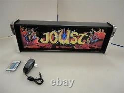 Williams Joust Marquee Game/Rec Room LED Display light box