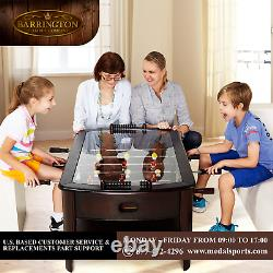 Wooden Foosball Coffee Table Arcade Game Room Wood Family Sports Play Fun Home