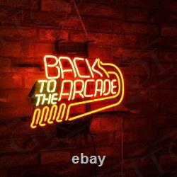 17x14 Retour À L'arcade Neon Sign Light Beer Bar Pub Game Room Wall Hanging
