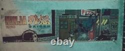 1988 Ryu Ninja Gaiden Arcade Topper Marquee Salle De Jeu Tecmo 24x7