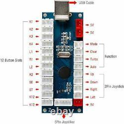 4 Joueurs Led Diy Arcade Kit 4x Zero Relay Encodeur Led Usb + 4x 4/8 Way