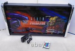 Alien Vs Predator Marquee Jeu/rec Room Boîte À Lumière Led Affichage