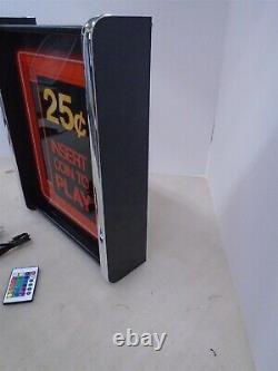 Arcade Insert Pièce Pour Jouer Game/rec Room Led Afficher Le Signe Boîte À Lumière