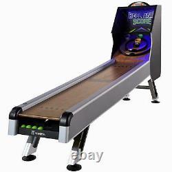 Arcade Skeeball 10' Table De Salle De Jeu Avec Marqueur Led, Lumières, Effets Sonores Réels
