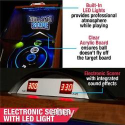 Arcade Skeeball 9 Game Room Table Avec Led Scorer, Lights, And Sound Effects