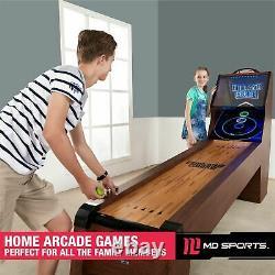 Arcade Skeeball 9' Table De Jeu Chambre Avec Led Scorer, Lumières Et Effets Sonores