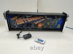 Asteroids Deluxe Marquee Game/rec Room Led Display Light Box