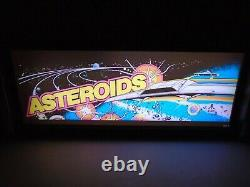 Asteroids Marquee Game/rec Room Led Display Boîte Lumineuse