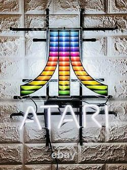 Atari Arcade Salle De Jeu Vidéo 19x15 Neon Light Sign Lamp Hd VIVID With Dimmer