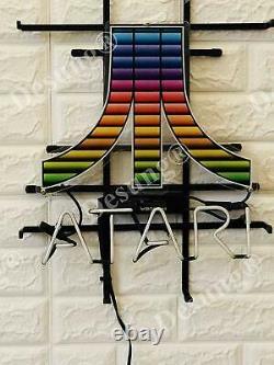 Atari Arcade Video Game Room Light Lamp Neon Sign 20 Avec Hd VIVID Printing