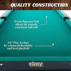 Barrington Billiard 84 Arcade Pool Table Avec Bonus Dartboard Set Rec Room Jeu