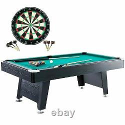 Billard Pool Table Dartboard Set Arcade Indoor Sport Family Game Room Play 84