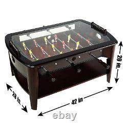 Bois Babyfoot Coffee Table Arcade Salle De Jeux En Bois Famille Sports Soccer Intérieur