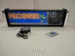 Boîte À Lumière Frogger Marquee Game/rec Room Led Display