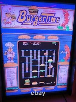 Burgertime Game Jouer Marquee Game/rec Room Affichage Led Boîte À Lumière