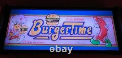 Burgertime Marquee Game/rec Room Led Display Boîte Lumineuse