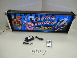 Captain America Avengers Marquee Jeu / Rec Room Led Display Boîte Lumineuse