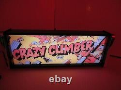 Crazy Climber Marquee Jeu / Rec Room Led Display Boîte Lumineuse