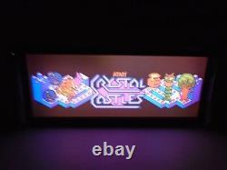 Crystal Castles Marquee Jeu / Rec Room Led Display Boîte Lumineuse