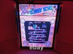 Donkey Kong Jeu Jouer Marquee Jeu / Rec Room Affichage Led Boîte À Lumière
