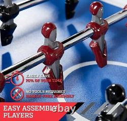 Espn 56 Foosball Table Arcade Taille Famille Salle De Jeu Lumières Led & Cover