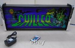Exidy Chiller Marquee Jeu / Rec Room Led Display Light Box