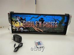 Ghouls N Ghosts Marquee Game/rec Room Led Display Light Box Ghouls N Ghosts Marquee Game/rec Room Led Display Light Box Ghouls N Ghosts Marquee Game/rec Room Led Display Light Box Ghoul