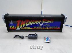 Indiana Jones Marquee Game/rec Room Led Display Boîte Lumineuse