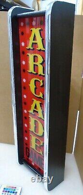 Jeux D'arcade Marquee Jeu / Rec Chambre Led Affichage Boîte À Lumière