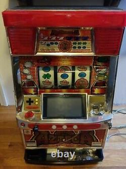 Machine À Sous Azteca Pachislo Avec Jetons! Man Cave Salle De Jeu Arcade Machine