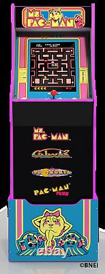 Mme Pacman Arcade Machine Avec Riser Authentic Experiences At Home Game Room