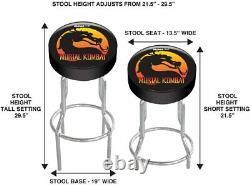 Mortal Kombat Arcade1up Official Game Room Custom Shop Stool Play Seat Gameplay