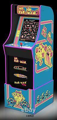 Ms Pacman Arcade Machine Avec Riser Doit Avoir Votre Chambre De Jeu De Famille Game Cave