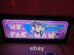 Ms Pacman Marquee Jeu/rec Room Boîte À Lumière Led Affichage