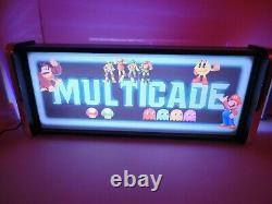 Multicade Marquee Jeu / Rec Chambre Led Affichage Boîte À Lumière