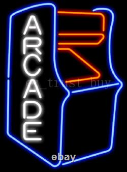 New Style Game Room Arcade Neon Light Sign 17x14 Beer Cave Open Bar Windows