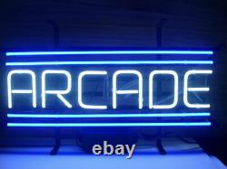 Nouveau Arcade Blue Video Game Room Beer Neon Light Sign 20x16 Glass Decor
