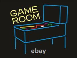Nouveau Jeu Pinball Arcade Game Room Beer Bar Neon Light Sign 24x20