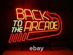 Nouveau Retour À L'arcade Neon Light Sign 20x16 Decor Lamp Bar Artwork Game Room