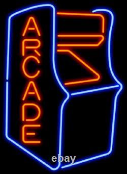 Nouveau Style Vidéo Arcade Jeu De Salle De Jeu Machine Neon Lampe Enseigne Lumière 17x14 Verre De Bière